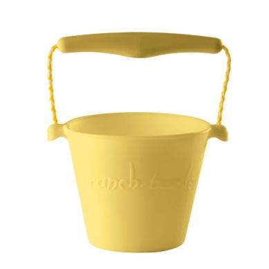 Scrunch - Zwijane Silikonowe Wiaderko Pastelowe Żółte