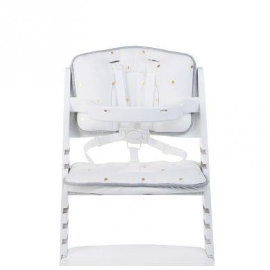 Childhome - Ochraniacz-Poduszka do Krzesełka Lambda Jersey Złote Grochy