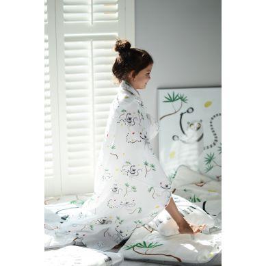 Maki Mon Ami - Muślinowo-bambusowy Otulacz XXL Lama Mila