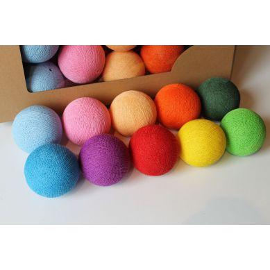 Cottonove Love - Lampka z Bawełnianych Kul 35szt. Multi Color