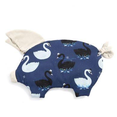 La Millou - Podusia do Wózka Sleepy Pig Velvet Collection Magic Swan Rafaello