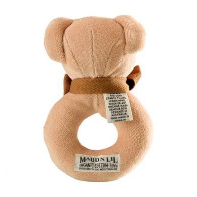 Maud'N'Lil - The Teddy Ring Rattle Grzechotka Organiczna Miękka Cubby