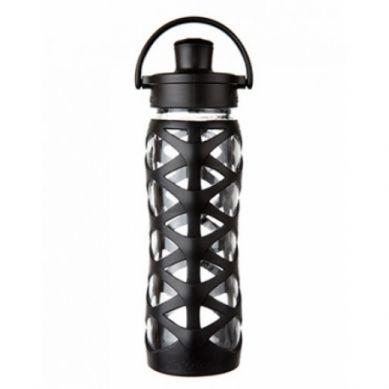 Lifefactory - Butelka Szklana Actice Cap 650 ml Onyx