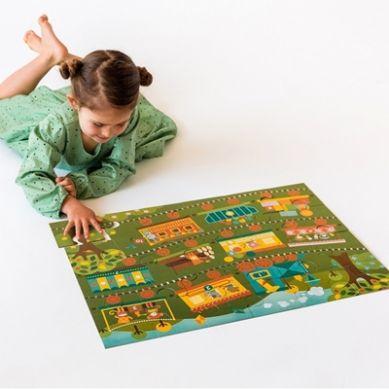 Petit Collage - Puzzle Podłogowe Pociąg