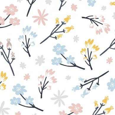 La Millou - Prześcieradło Good Night 70x140 cm Cute Flowers