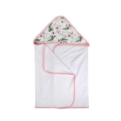 Muzpony - Duży Ręcznik Kąpielowy z Kapturem Peonie 140x70cm