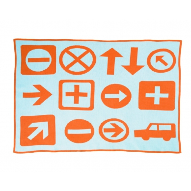 DwellStudio Kocyk Tkany Signs