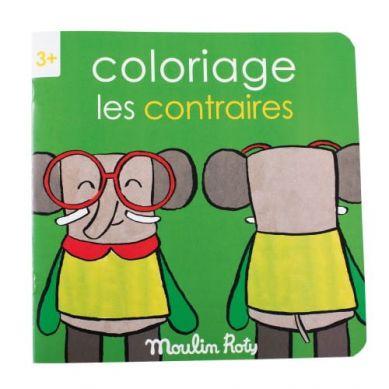 Moulin Roty - Kolorowanka  Przeciwieństwa  20 Stron