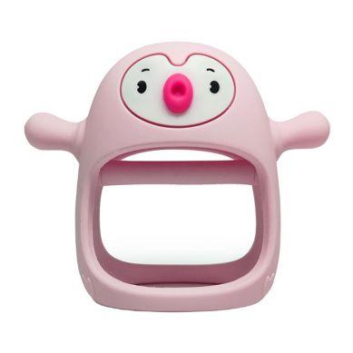 Smily Mia - Gryzak Silikonowy Pingwin Buddy Light Pink