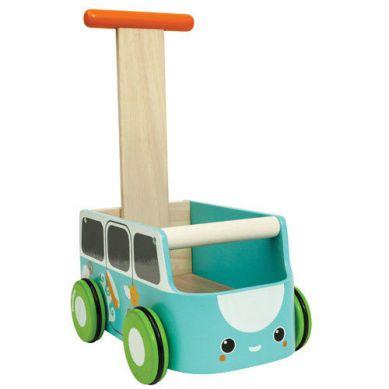 Plan Toys - Drewniany Chodzik Niebieski Van