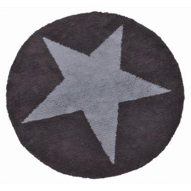 Lorena Canals - Dwustronny Dywan do Prania w Pralce Reversible Round Star Blue