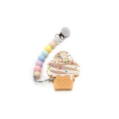 Loulou Lollipop - Gryzak Silikonowy z Zawieszką Ice Cream