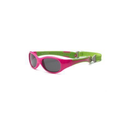 Real Kids - Okularki dla Dzieci Explorer Polarized Cherry Pink and Lime 2+
