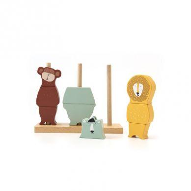 Trixie - Drewniane Klocki Puzzle Animals