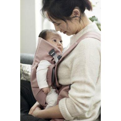 BabyBjorn - Nosidełko Mini Cotton Pudrowy Różowy