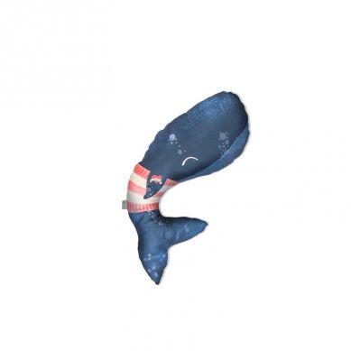 Baby Bites - Poduszka do Karmienia Whale 55 x 35 cm Navy Blue