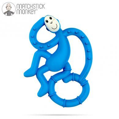 Matchstick Monkey - Mini Gryzak Masujący ze Szczoteczką Blue