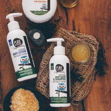 Pure Beginnings Organic Baby - Łagodzący Balsam do Ciała z Organicznym Olejem z Baobabu 200ml