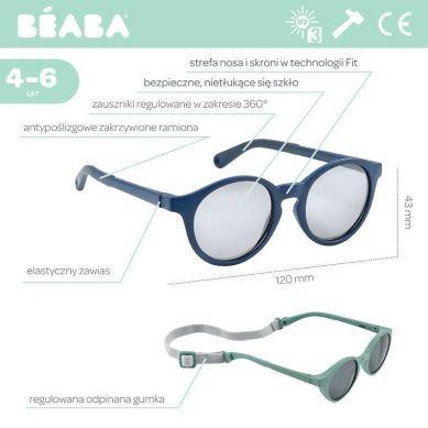 Beaba - Okulary Przeciwsłoneczne dla Dzieci 4-6 lat Blue Marine