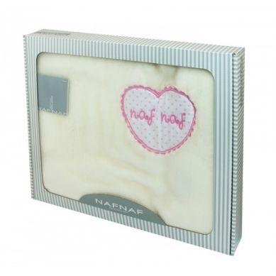Naf Naf - Kocyk Raschell Heart Rosa 80x110 cm