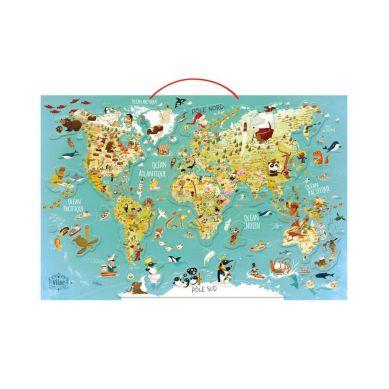 Vilac - Puzzle Magnetyczne 78el.  Mapa Świata