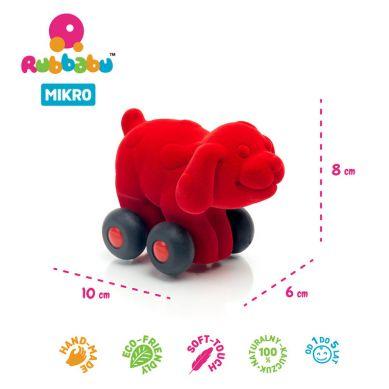 Rubbabu - Pies Pojazd Sensoryczny Czerwony Mikro