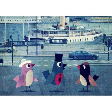 OMM Design - Plakat Ptaki w Stockholmie