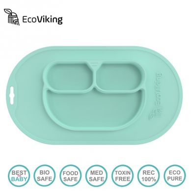 Eco Viking BLW 4 in 1 Eating Helper Owl Mint
