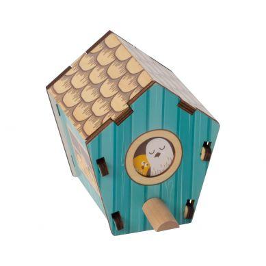 Fat Brain Toys - Rysunek Architektoniczny Układanka 3D Domek dla Ptaków