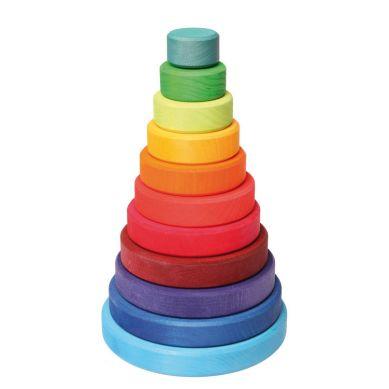 Grimm's - Duża Kolorowa Wieża Stożkowa 0+