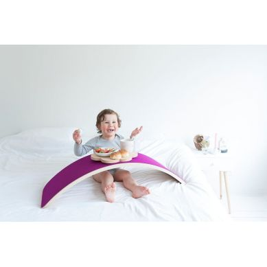 Wobbel - Deska do Balansowania Starter Transparent z Filcem Wild Rose
