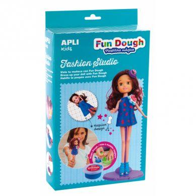 Apli Kids - Zestaw do Stylizacji z Lalką i Masą Plastyczną Brunetka
