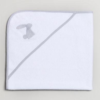 Bim Bla - Ręcznik Niemowlęcy z Szarym Haftem