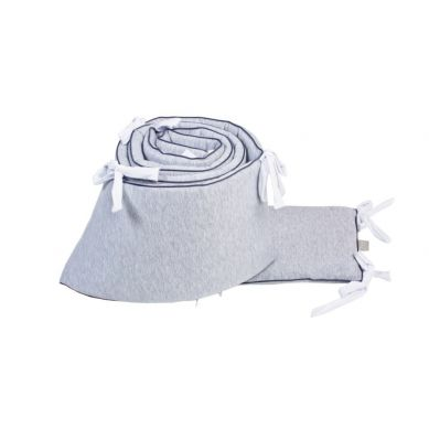 Poofii - Ochraniacz do Łóżeczka  z Białymi Troczkami 420x28