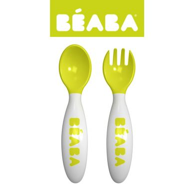 Beaba - Sztućce w Etui Neon