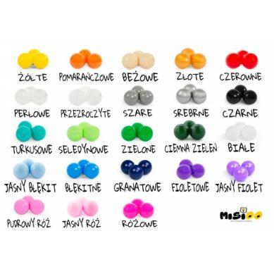 Misioo - Suchy Basen Velvet z 200 Piłeczkami Pudrowy Róż 90X40 cm + 100 Dodatkowych Piłek