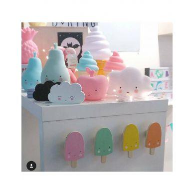 Little Lovely Company - Zestaw Wieszaczków Pastel Ice Cream