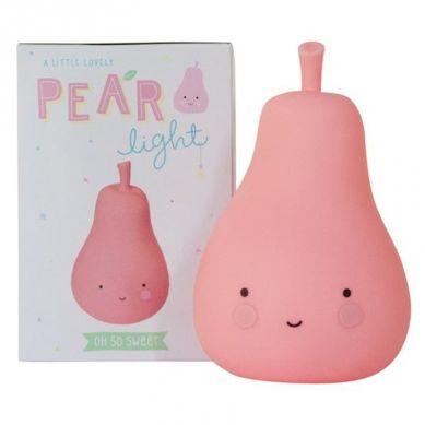 Little Lovely Company -  Mała Lampka Gruszka Szczęścia Różowa