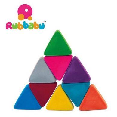 Rubbabu -  Układanka Edukacyjno - Sensoryczna Trójkąty