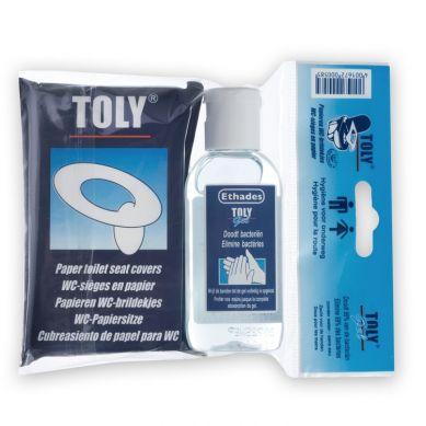 Toly - Zestaw Pordóżny Nakładki na Toaletę i Żel Antybakteryjny