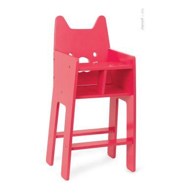Janod Babycat Wysokie Krzesełko do Karmienia Lalek