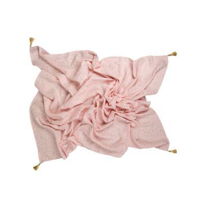 Muzpony - Otulacz Muślinowy z Chowstami 110x120cm Blink Pink