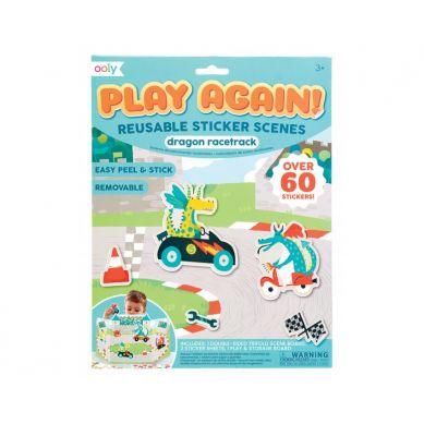 Ooly - Naklejki Wielorazowe Play Again Wyścigi Smoków  3+