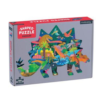 Mudpuppy - Puzzle Ksztaty Dinozaury 300el. 7+
