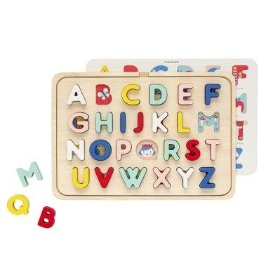 Petit Collage - Puzzle Drewniane Alfabet 3+
