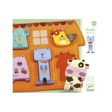 Djeco - Drewniano-Filcowe Puzzle Barita