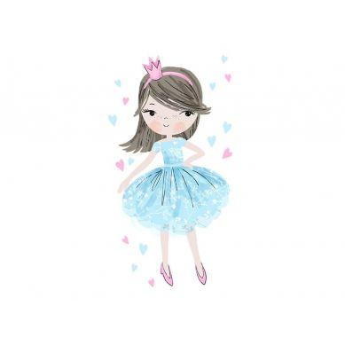 Pastelowelove - Naklejka na Ścianę Księżniczka Niebieska