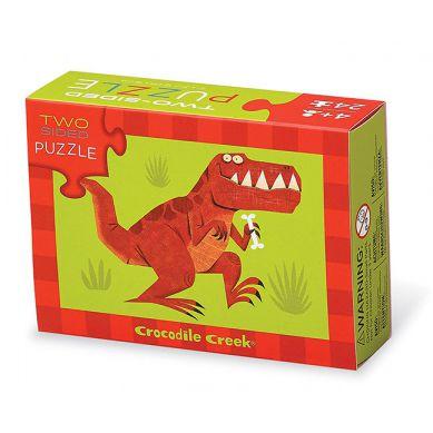 Crocodile Creek - Dwustronne Puzzle Dinozaury