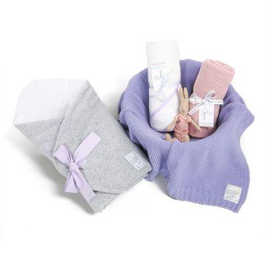 Color Stories - Wyprawka 3w1 Lavender Dots Rożek, Kocyk, Ręcznik