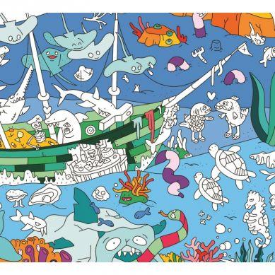 Omy - Kolorowanka Ocean 100x70cm